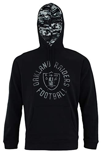 Zubaz NFL Men's Team Camo Lined Pullover Hoodie, Oakland Raiders XX-Large ()