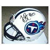 Authentic LenDale White Autograph Tennessee Titans Mini Helmet w/ Case