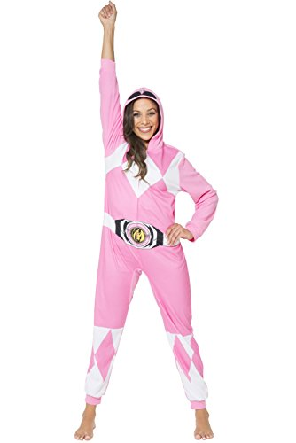 Power Ranger Women's Pink Ranger One Piece Pajama, S/M ()