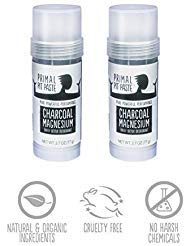 (2 PACK - Primal Pit Paste - Charcoal Magnesium Daily Detox Deodorant STICK - 2.7 oz (77g))