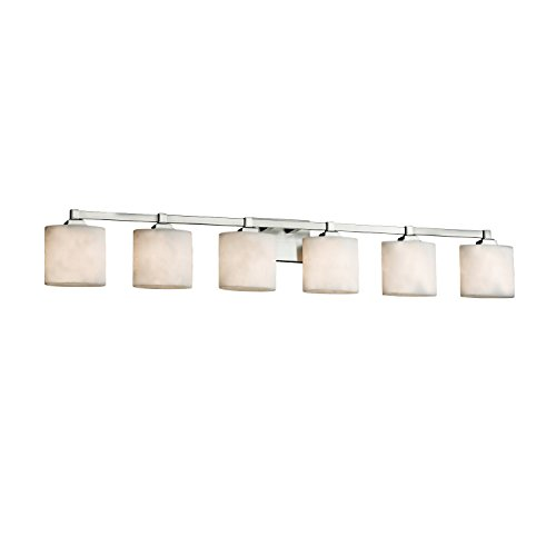Clouds - Regency 6-Light Bath Bar - Oval Clouds Shade - Brushed Nickel Finish - LED ()