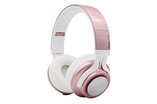 PowerLocus P3 Bluetooth Headphones Over-Ear, [26h Playtime] Wireless Hi-Fi Stereo Headphone, Foldable with Mic, Deep Bass, Wired Mode for Cell Phones/Laptop/PC/TV (Rose Gold)