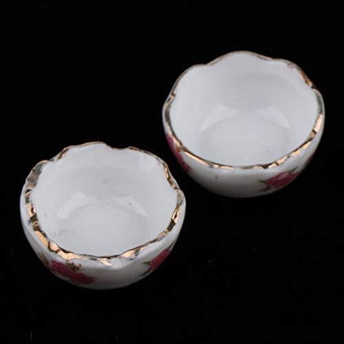 4pcs Glass Effect Bowls Miniatures for a Dolls House Kitchen Tableware Accessory