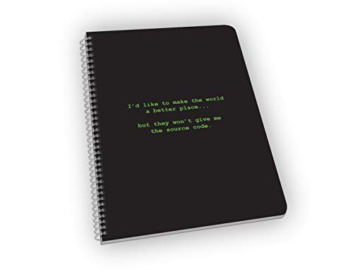 (Make The World A Better Place - Funny Computer Coding Pun Notebook 9 x 6.6 Inches Graph Paper Great Gift For Computer Nerd, Geniuses, Coder, Engineer, Programmer, Developer)