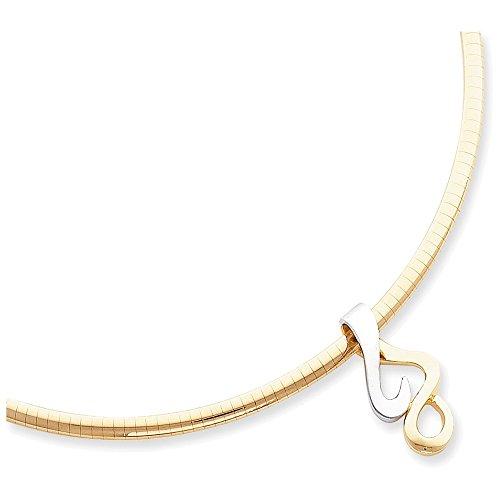 - Jewelry Adviser Slides 14k Two-Tone Reversible Fancy Omega Slide