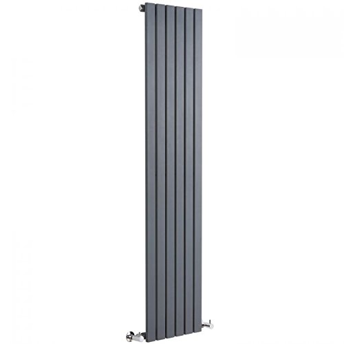 Hudson Reed - Sloane Modern Vertical Radiator With Free Valves And Brackets In Anthracite - 63