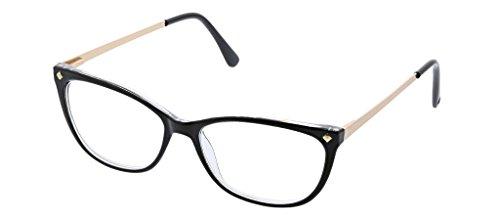 Peepers Women's Collins Avenue - Black/Yellow 2418225 Cateye Reading Glasses, Black&Yellow, 2.25