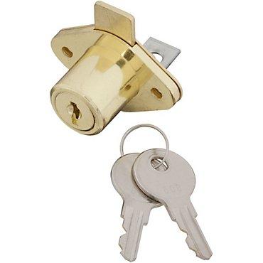 National Hardware N185-298 Vka826 Adjustable Drawer Lock, Brass