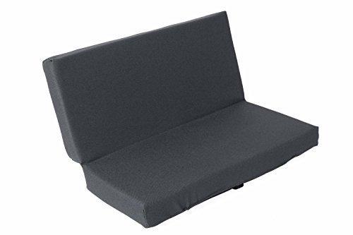 sitzZ uni Sitzkissen Grau faltbar, klappbar für Bank, Rollator. Geeignet für Kinder, Erwachsene, Senioren. Isolierend, wasserabweisend, pflegeleicht, robust, made in Germany. Maße: 33x29,5x3,3cm