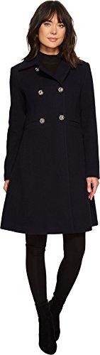 Ivanka Trump Womens Textured Collar Wool Navy 10 One (Textured Wool Coat)