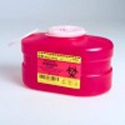 (B-D Multi-Use One-Piece Sharps Containers - Regular Funnel Vented Cap, 3.3 Quart)