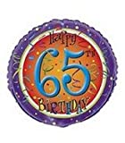 18'' Happy 65th Birthday Swirl Balloon