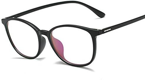 LULIJP プレーン メガネ TR アンチブルーライト 透明 コンピュータ 保護メガネ (Color : 01ブラック, Size : フリー)