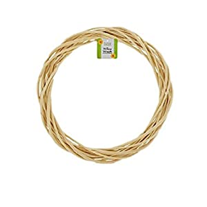 Classic Willow Wreath 9 Inch Natural Color Crafters Decorators Florist 2