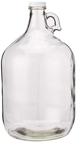 - Home Brew Ohio Glass Water Bottle Includes 38 mm Metal Screw Cap, 1 gallon Capacity