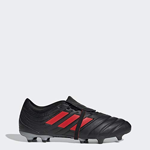 adidas Men's Copa Gloro 19.2 Firm Ground Soccer Shoe, Black/hi-res red/Silver Metallic, 12 M US