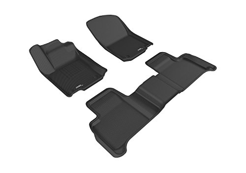 3D MAXpider Complete Set Custom Fit All-Weather Floor Mat for Select Mercedes-Benz GLE Class (C292) Models - Kagu Rubber (Black) - Mercedes Benz S Class Rubber