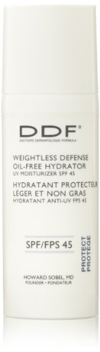Defense Spf 45 Sunscreen (DDF Weightless Defense Oil-Free Hydrator UV Moisturizer SPF 45 , 1.7 fl. oz.)
