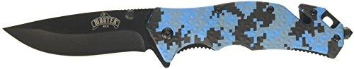 Master USA MU-A001DB Spring Assist Folding Knife, Black Blade, Digital Blue Camo Handle, 4-1/2-Inch Closed Digital Camo Handle Black Blade