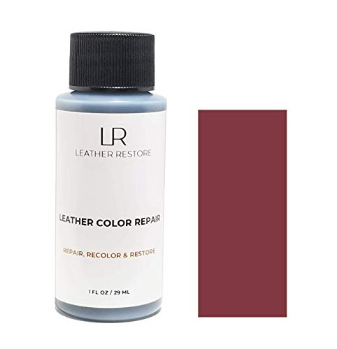 Leather Restore Leather Color Repair, BURGUNDY, 1 OZ Bottle - Repair, Recolor & Restore Couch, Furniture, Auto Interior, Car Seats, Vinyl & Shoes ()
