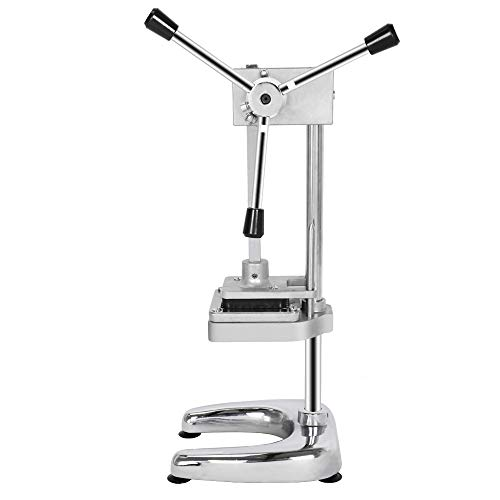 ROVSUN Upgraded Commercial Grade French Fry Cutter with Rudder Stock Lever, Vertical Fruit Vegetable Potato Slicer, Including Suction Feet,1/2-Inch,3/8-Inch,1/4-Inch Blades and Pusher Blocks by ROVSUN (Image #1)