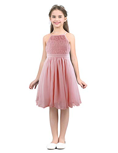 (Toddler Little Kids Girl Lace Ruffle Sleeveless Dress Knitted Tulle Princess Tutu Flower Sundress Clothes Outfits Set(1-2 T))