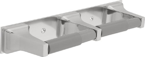 Delta Faucet 45270 Twin Paper Holder with 2 Plastic Rollers, Chrome by DELTA FAUCET