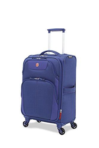 SwissGear Meyrin 20'' Expandable Spinner Suitcase, Dark Blue by SwissGear
