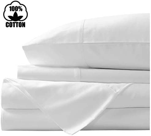 "HOT DEAL ! FREE SHIP 15/"" DEEP POCKET 4PC SOLID SILVER SHORT QUEEN SHEET SET"