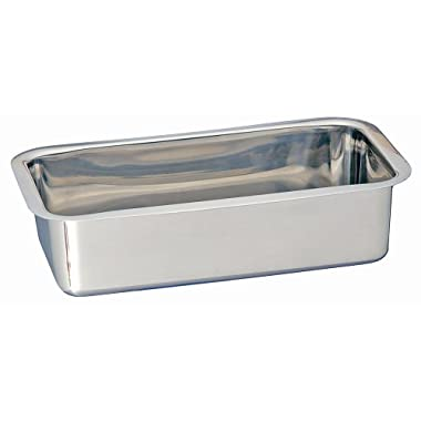 "Kitchen Supply Stainless Steel Loaf Pan 9-1/2"" x 5"" x 2-1/2"