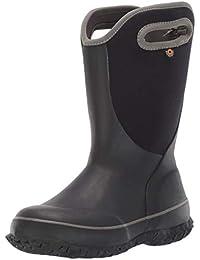 Unisex Slushie Snow Boot, Solid Black/Multi, 6 Medium US Big Kid
