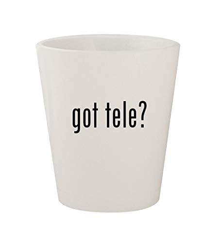 got tele? - Ceramic White 1.5oz Shot Glass