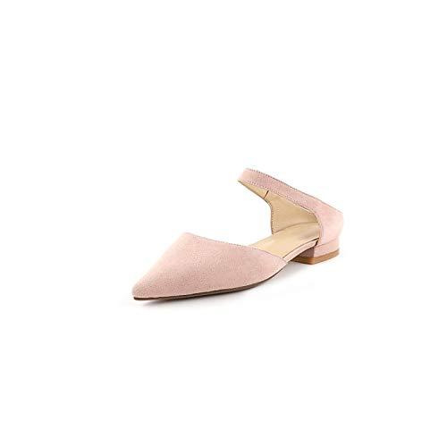 Rose ZHZNVX Chaussures Femme Suede Summer Basic Escarpins Bas Talon Violet Jaune Rose 36.5 EU