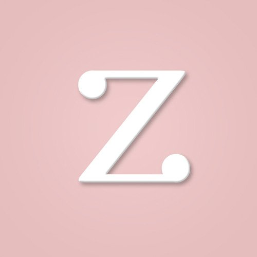 Wooden Wall Letter Hanging Initials Letter: Z