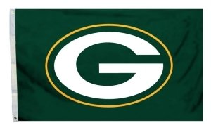 NFL Green Bay Packers Flag with Grommets 60 x 36in