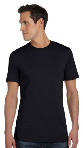 Bella + Canvas Unisex Jersey Short-Sleeve T-Shirt, XL, BLACK