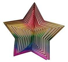 Spring Garden Spiral Rainbow Star Wind Chimes Cute Decoration Decor Home (Baltimore Ravens Spiral)