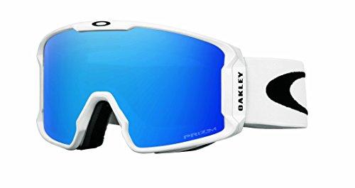 Oakley Men's Line Miner Snow Inferno Goggles, Matte White, Prizm Sapphire Iridium, - Goggles Snow New Oakley