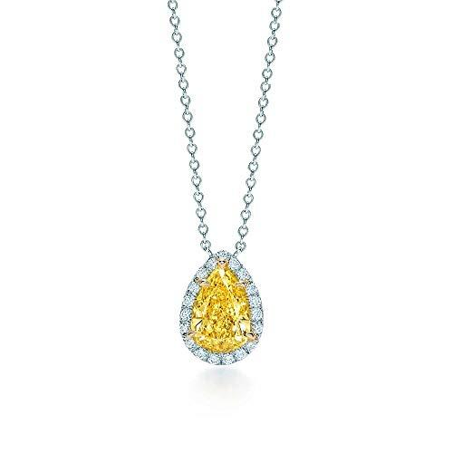 GYXYZB 925 Sterling Silver Love Twinkle Teardrop Inlay Zircon Sun Necklace Original ()