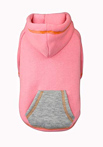 Puppy Face Pet Clothes for Dog Cat Puppy Hoodies with Sleeves Adjustable Drawstring Dog Sweater Size XXS to XXL Available Spring (S, Pink) ()
