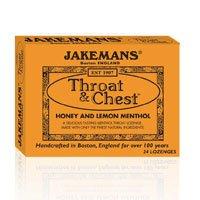 Jakemans Honey and Lemon Menthol Throat and Chest Lozenge - 24 per pack -- 6 packs per case.