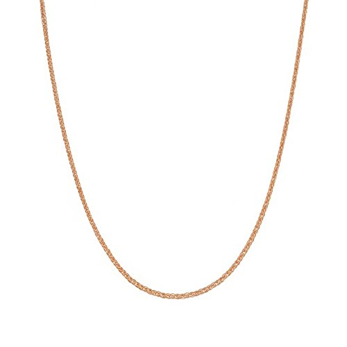 Classic Box Link Gold Chain - 14K Rose Gold 1.20mm 20