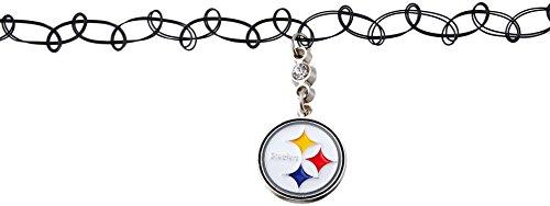 Siskiyou NFL Pittsburgh Steelers Knotted Choker, Black, Stretch
