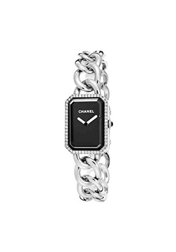 Chanel H3254 Women's Diamond Premiere Ss Black Dial Watch
