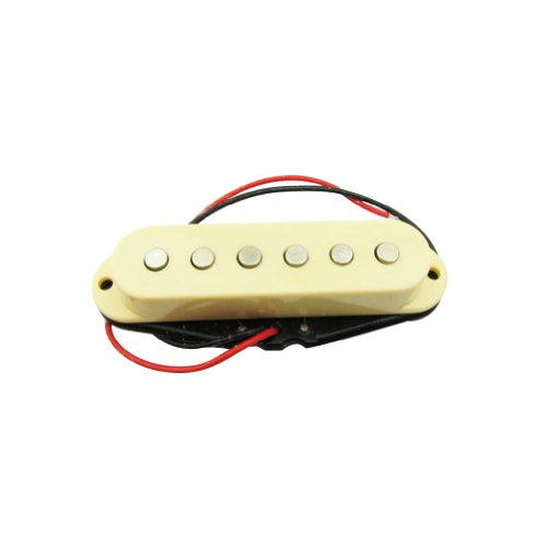 Musiclily 50MM Single Coil Pickup Middle Pickup for Fender Strat Stratocaster Squier Electric Guitars, Cream Cover