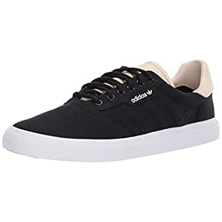 adidas Originals Men's 3MC Regular Fit Lifestyle Skate Inspired Sneakers Shoes, Black/ecru tint/white, 6 M US
