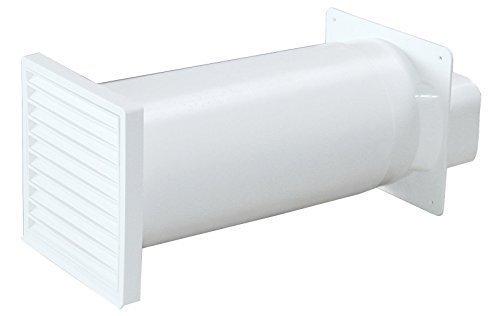 Mauerkasten Power 150 Flachkanal 230x80mm mit Rückstauklappe und Teleskoprohr *529308