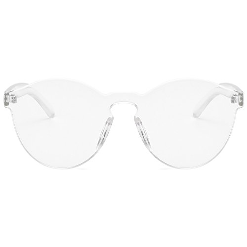 5edd7527fe LKEYE-Fashion Party Rimless Sunglasses Transparent Candy Color Eyewear  LK1737 Transparent Frame - Buy Online in Oman.
