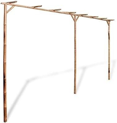 vidaXL Pérgola de Jardín de Madera de Bambú 4x2 m Cenador para ...