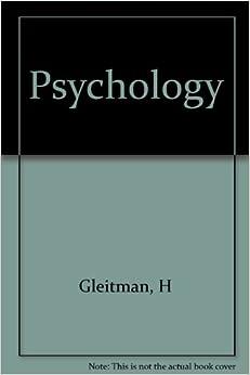 Psychology gleitman